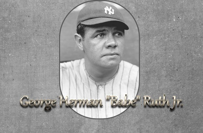 Babe Ruth professional baseball player.