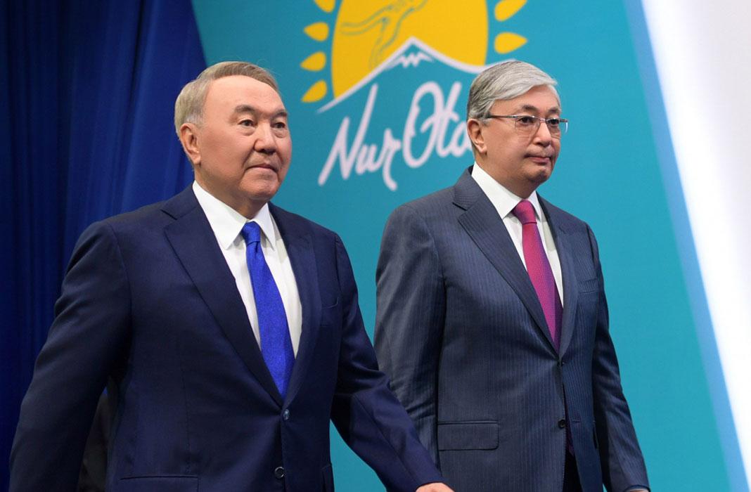 Tokayev and Nazarbayev