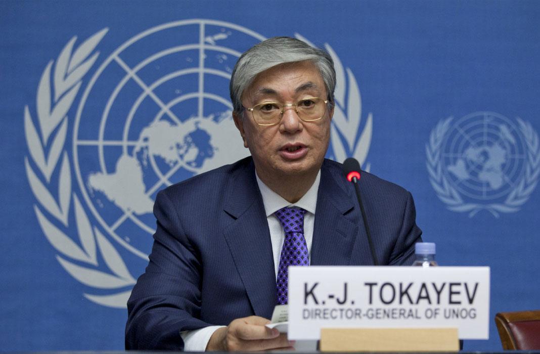 Kassym-Jomart Tokayev Career in united nations