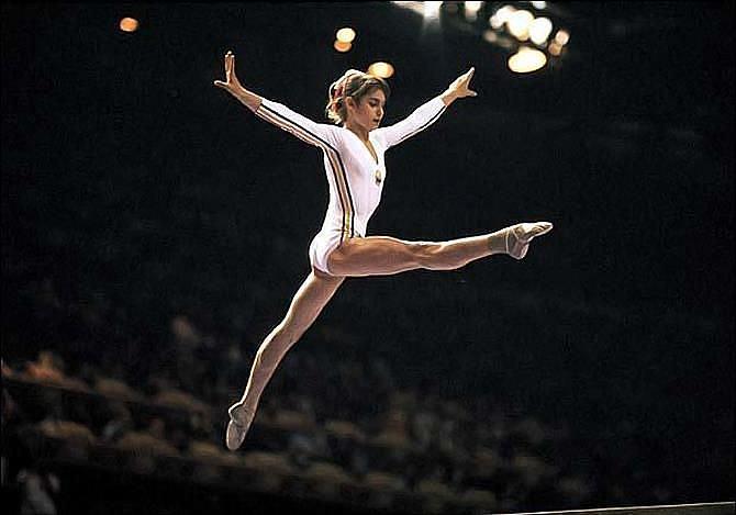 Nadia Comaneci famous gymnast