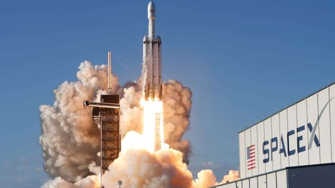 Space X rocket the famous project of Musk