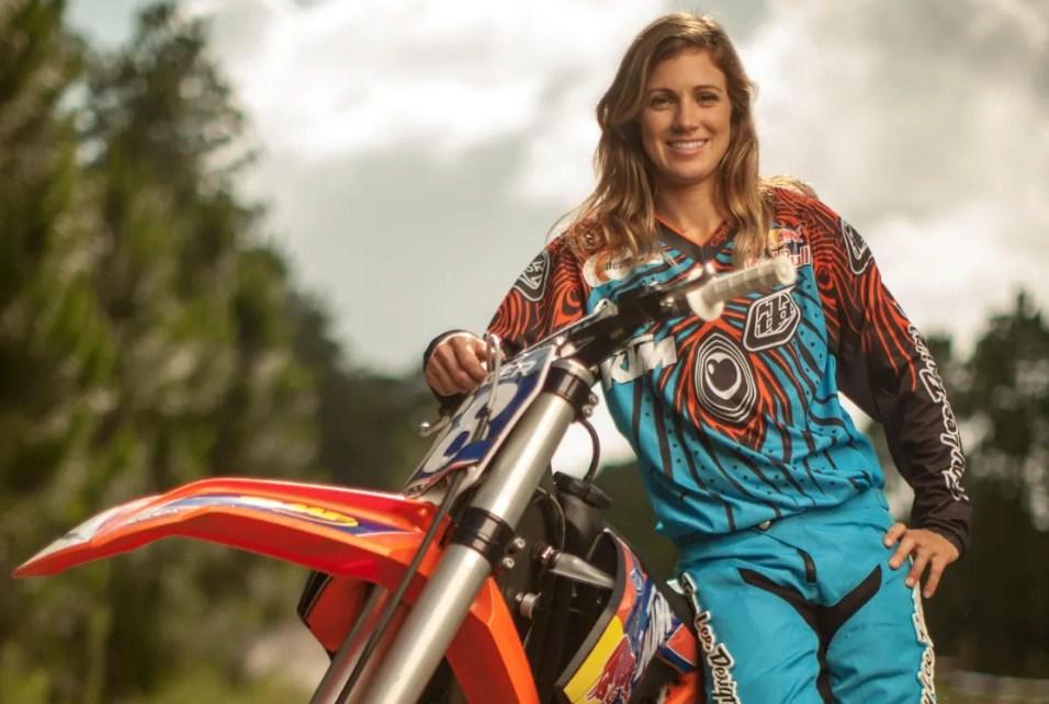 Tarah Gieger, a famous female motorcross racer