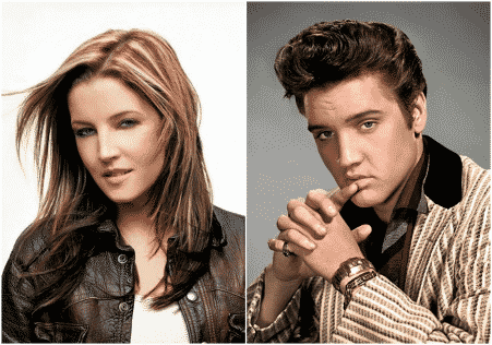 Lisa Marie Presley and Elvis Presley