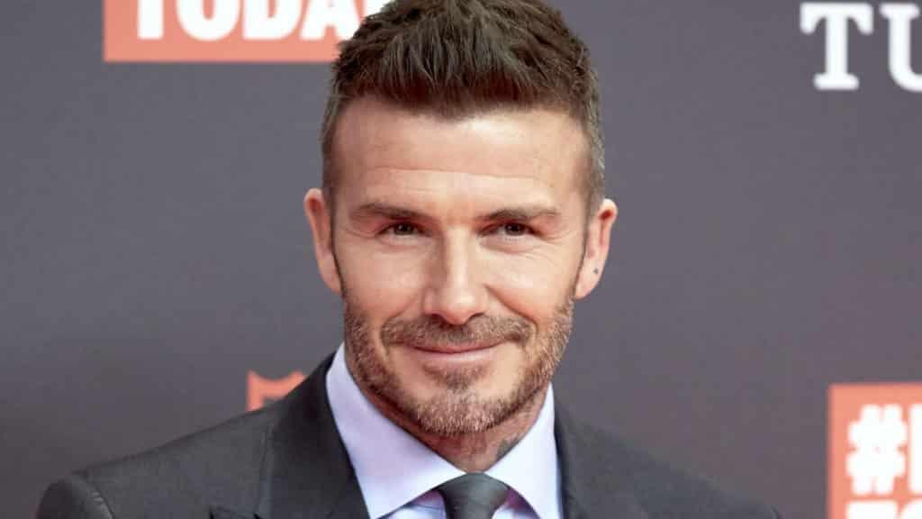 David Beckham famous football player